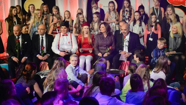 Les membres du quartette tunisien lauréat du prix Nobel de la paix à Oslo le 10 décembre 2015 [Fredrik Varfjell / NTB SCANPIX/AFP]