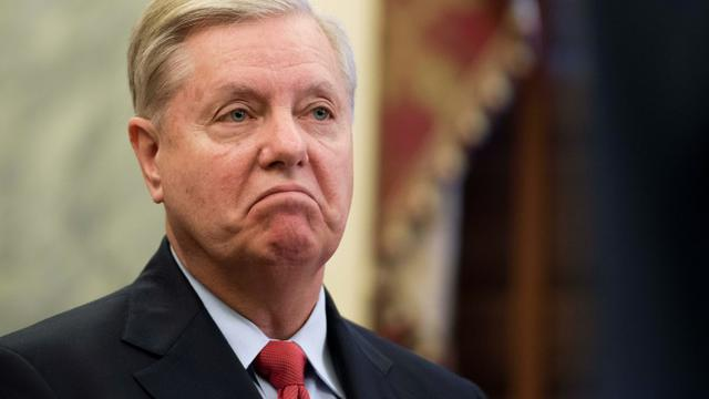 Le sénateur républicain Lindsey Graham à Washington, le 13 septembre 2017 [JIM WATSON / AFP]