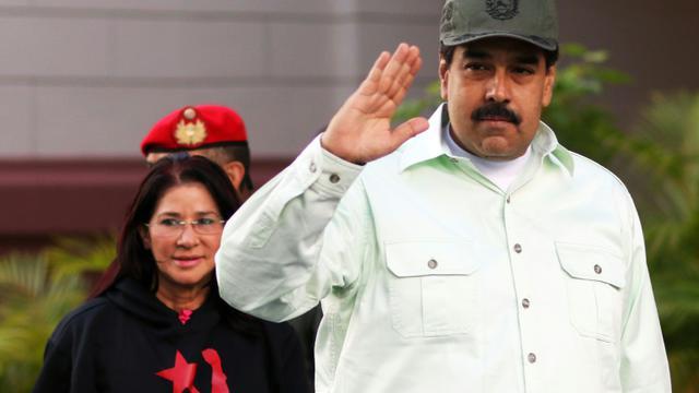 Photo fournie par l'agence de presse présidentielle montrant le président du Venezuela Nicolas Maduro à Caracas, le 7 janvier 2016  [ / PRESIDENCIA/AFP]