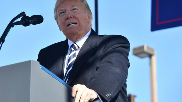 Le président américain Donald Trump, le 20 octobre 2018 à Elko, dans le Nevada [Nicholas Kamm / AFP]