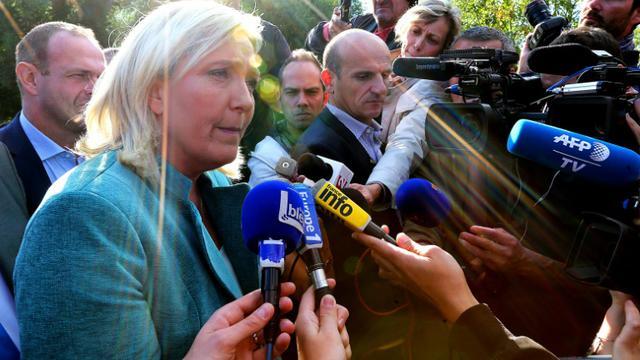 La présidente du FN Marine Le Pen à Amiens, le 20 septembre 2015 [FRANCOIS NASCIMBENI / AFP/Archives]