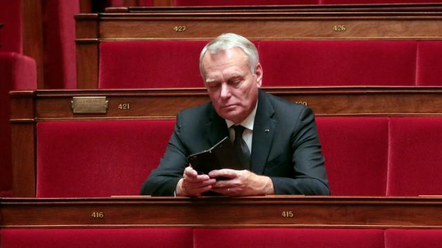 L'ex-Premier ministre Jean-Marc Ayrault, le 4 novembre 2015 à l'Assemblée nationale à Paris [JACQUES DEMARTHON / AFP/Archives]