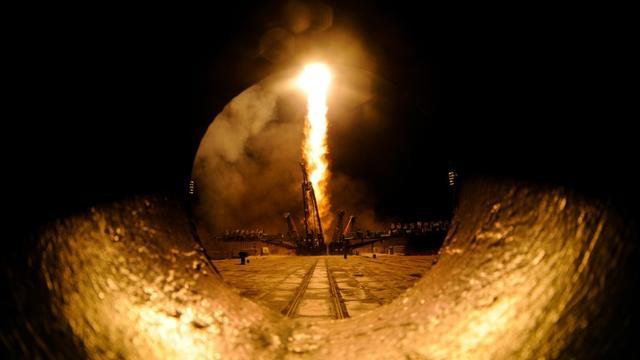 Tir d'une fusée Soyouz le 19 mars 2016 depuis la base spatiale de Baïkonour [KIRILL KUDRYAVTSEV / AFP/Archives]