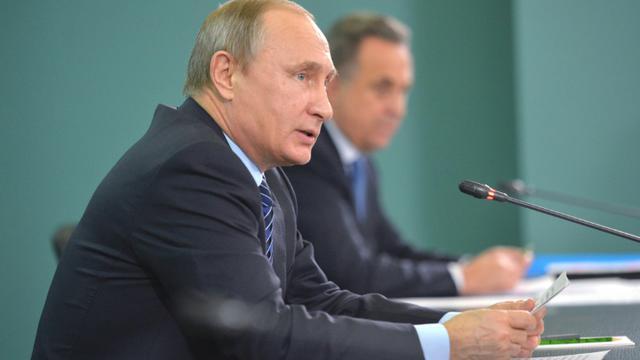 Le président russe Vladimir Poutine le 11 novembre 2015 à Sotchi [ALEXEI DRUZHININ / RIA NOVOSTI/AFP]