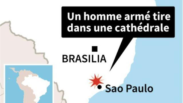 Localisation de Campinas, près de Sao Paulo  [ / AFP]