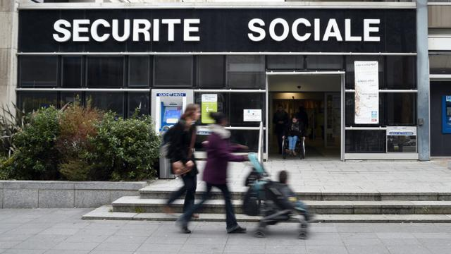 Vue extérieure en date du 21 novembre 2014 du siège de la Sécurité sociale à Rennes [Damien Meyer / AFP]