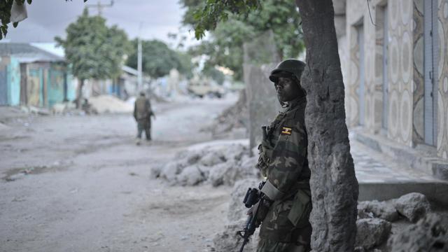 Un soldat de la mission de l'Union africaine le 25 mai 2013 à Mogadiscio [Tobin Jones / /AFP/Archives]