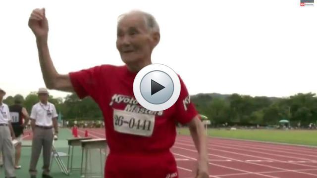 A 103 ans, Hidekichi Miyazak est le recordman du monde du 100 mètres des plus de 100 ans