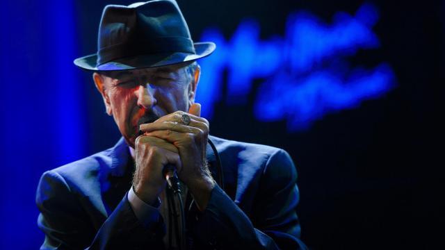 Le chanteur canadien Leonard Cohen au 47e festival de Montreux, le 5 juillet 2013 [Fabrice Coffrini / AFP/Archives]