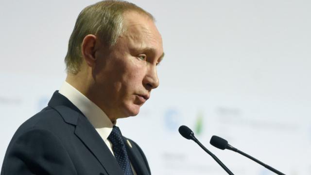 Le président russe Vladimir Poutine au Bourget près de Paris, le 30 novembre 2015 [ALAIN JOCARD / AFP]
