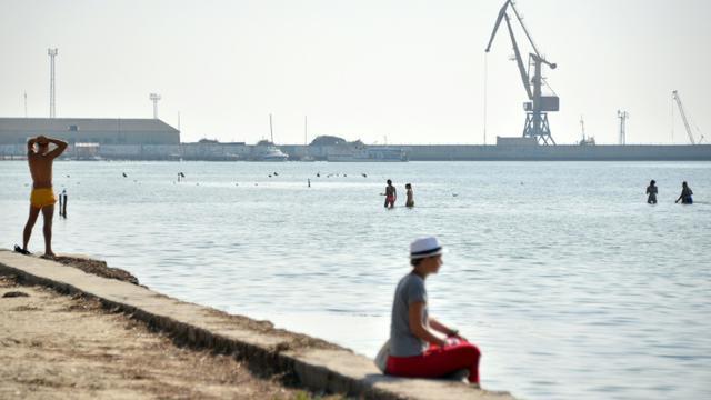 Le port de Skadovsk, au bord de la mer Noire, dans le sud de l'Ukraine, le 21 septembre 2015 [Genya Savilov / AFP/Archives]