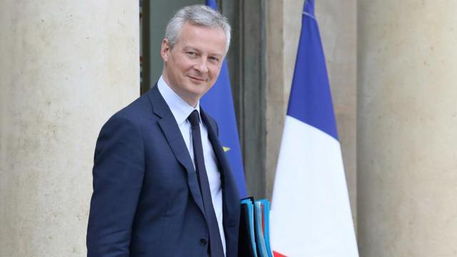 Le ministre de l'Economie Bruno Le Maire, à la sortie du Conseil des ministres, le 11 avril 2018 [LUDOVIC MARIN / AFP/Archives]