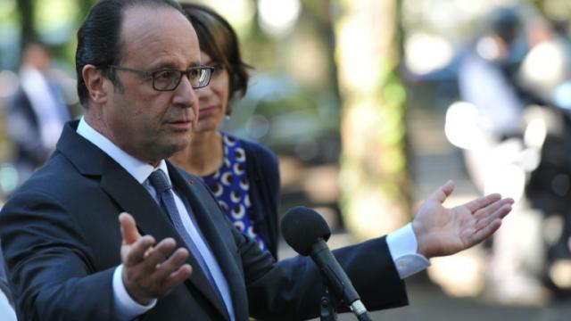 Le président François Hollande le 24 septembre 2016 à Tours [GUILLAUME SOUVANT / AFP]