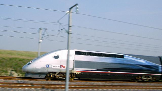 Le TGV accidenté, avec environ 400 personnes à bord, a été immobilisé pendant plus de deux heures [Francois Nascimbeni / AFP/Archives]