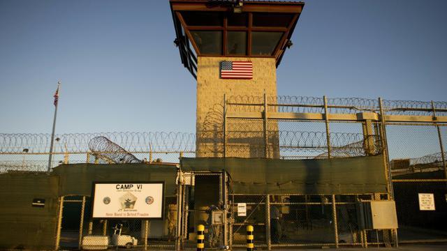 """Le """"Camp Six"""" de la prison américaine de Guantanamo, le 19 janvier 2012, à Cuba [JIM WATSON / AFP/Archives]"""