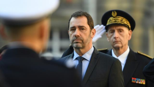 Christophe Castaner et Didier Lallement à Paris, le 21 mars 2019 [Christophe ARCHAMBAULT / AFP]