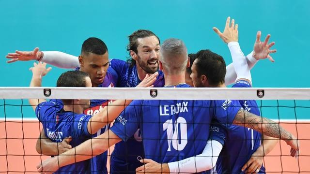 L'équipe de France n'a rien laissé aux Roumains, dominés en trois sets secs à Montpellier, le 12 septembre 2019 [PASCAL GUYOT / AFP]