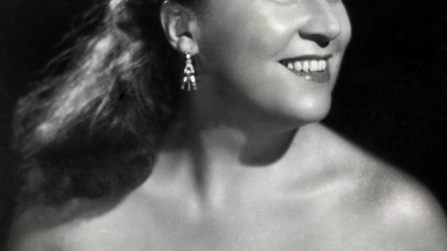 Un portrait d'Yvette Giraud dans les années 50 prise par le Studio Harcourt à Paris [ / AFP/Archives]