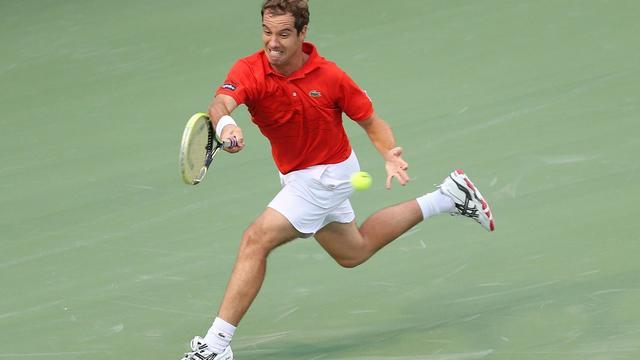 Le Français Richard Gasquet, finaliste du tournoi de Toronto dimanche, a été éliminé dès le 1er tour du Masters 1000 de Cincinnati (Ohio), par le Canadien Milos Raonic, vainqueur en deux manches 7-6 (7/4), 6-3.[GETTY IMAGES NORTH AMERICA]