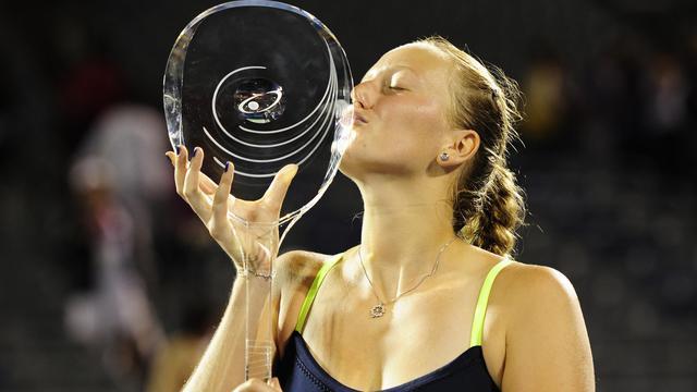 La Tchèque Petra Kvitova, tête de série N.5, a remporté le tournoi de tennis de Montréal en battant lundi en finale la Chinoise Li Na (N.10) en trois sets (7-5, 2-6, 6-3).[GETTY IMAGES NORTH AMERICA]