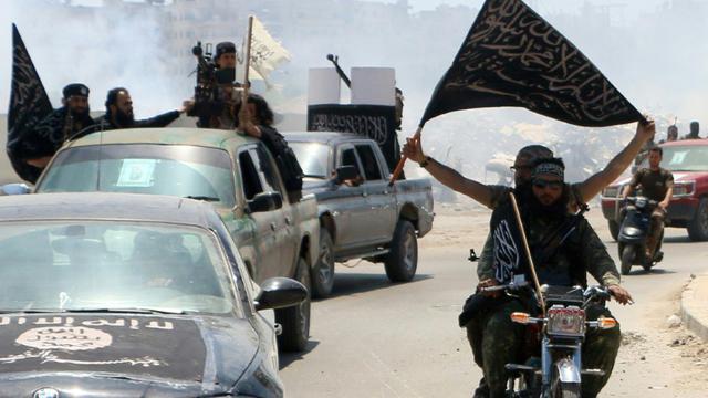 Des combattants affiliés à Al-Qaïda, à Alep, dans le nord de la Syrie, le 26 mai 2015 [Fadi al-Halabi / AMC/AFP/Archives]