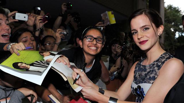 """L'actrice anglaise Emma Watson, qui joue l'apprentie sorcière dans la série de films à succès """"Harry Potter"""", est devenue la cyber-célébrité la plus dangereuse d'internet, a indiqué lundi la société de sécurité informatique McAfee. [GETTY IMAGES NORTH AMERICA]"""