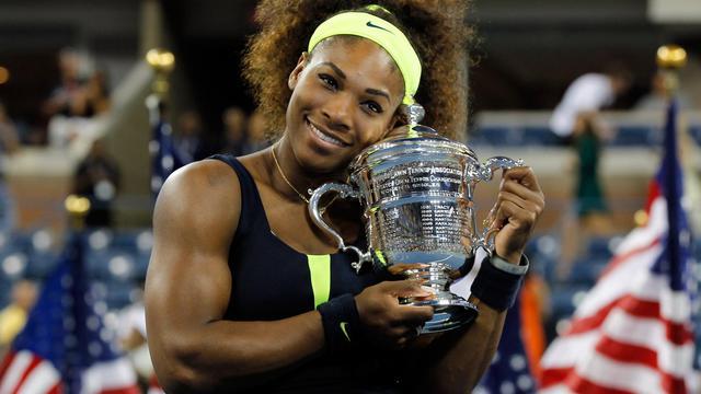 L'Américaine Serena Williams, tête de série N.4, a remporté l'US Open en battant dimanche en finale la Bélarusse Victoria Azarenka (N.1) 6-2, 2-6, 7-5 au terme d'un match de haute volée. [GETTY IMAGES NORTH AMERICA]