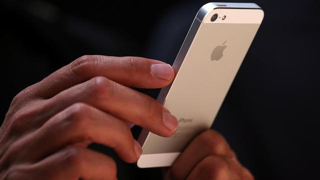 Le nouvel iPhone 5 lors de sa présentation, le 12 septembre 2012 à San Francisco [Justin Sullivan / Getty Images/AFP]