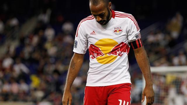 L'attaquant français des New York Red Bulls Thierry Henry, le 19 septembre 2012 face Kansas City à Harrison. [Mike Stobe / Getty Images/AFP/Archives]