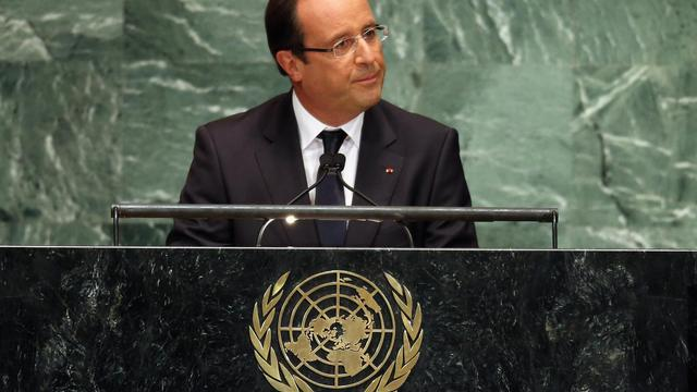 Le président français François Hollande le 25 septembre 2012 à New York [John Moore / Getty Images/AFP]