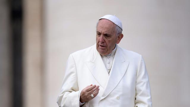 Le pape François, le 31 janvier 2018 place Saint-Pierre, au Vatican [FILIPPO MONTEFORTE / AFP/Archives]