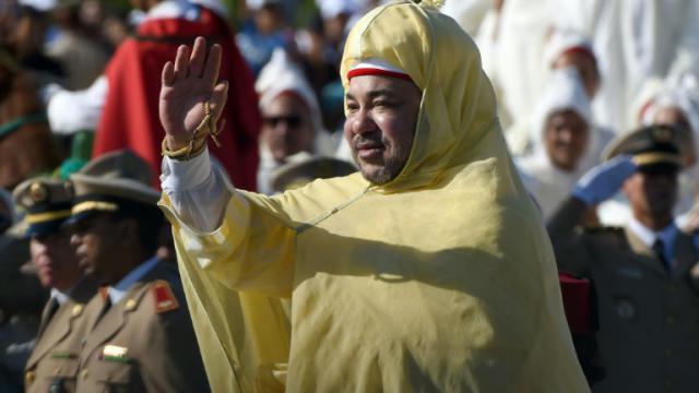Le roi marocain Mohammed VI, le 31 juillet 2014 à Rabat, lors des cérémonies du 15e anniversaire de son accession au trône [FADEL SENNA / AFP/Archives]