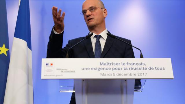 Jean-Michel Blanquer, le 5 décembre 2017 à Paris [PATRICK KOVARIK / AFP]