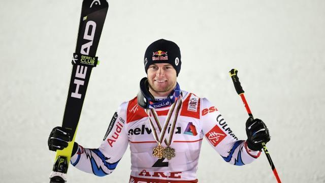 Le Français Alexis Pinturault 3e du slalom géant d'Are aux Mondiaux de ski alpin le 15 février 2019 [Jonathan NACKSTRAND / AFP]