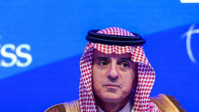 Le ministre saoudien des Affaires étrangères Adel al-Jubeir lors d'une conférence sur la sécurité régionale à Manama, Bahreïn, le 27 octobre 2018 [STRINGER / AFP]