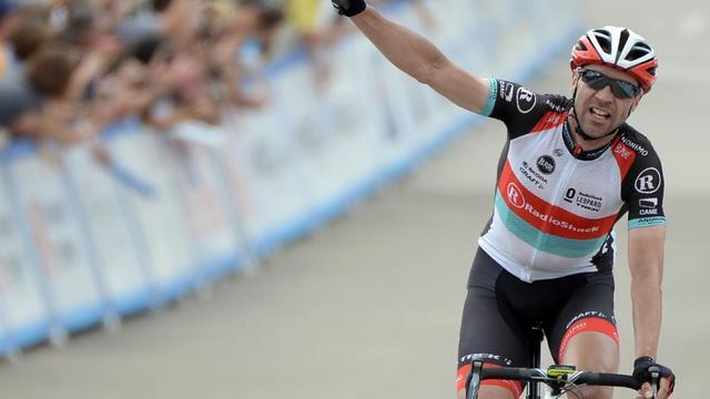 Le coureur cycliste allemand Jens Voigt à son arrivée à Avila Beach, en Californie, le 16 mai 2013 [Harry How / Getty Images/AFP]