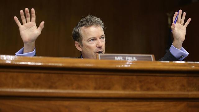 Le sénateur Rand Paul, le 21 mai 2013, au Sénat américain, lors d'une audition sur la fiscalité des entreprises, où Apple notamment devait être entendu [Chip Somodevilla / Getty Images/AFP]