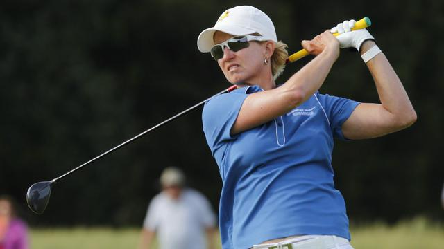 L'Australienne Karrie Webb participe au tournoi de Galloway (New Jersey), le 2 juin 2013 [Hunter Martin / Getty Images/AFP/Archives]