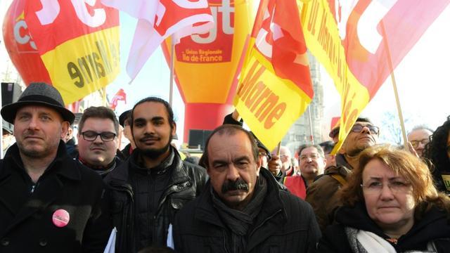 Le secrétaire général de la CGT Philippe Martinez lors de la manifestation du 5 février 2019 [Alain JOCARD / AFP/Archives]
