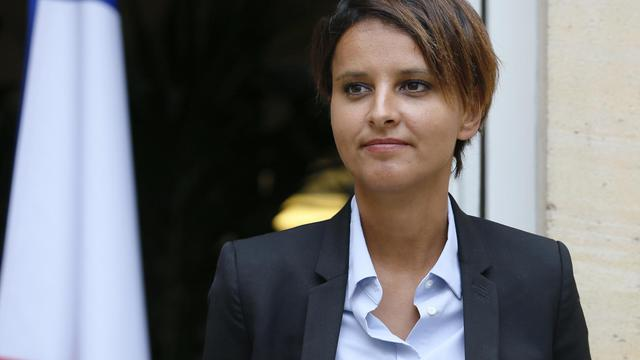 La nouvelle ministre de l'Education Najat Vallaud-Belkacem, le 27 août 2014 à Paris [Patrick Kovarik / AFP]