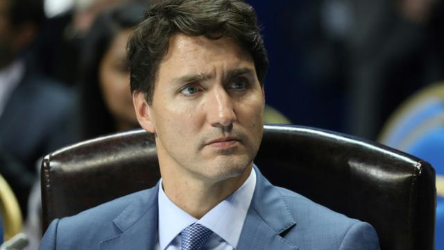 Le Premier ministre canadien Justin Trudeau à Erevan le 12 octobre 2018 [Ludovic MARIN / AFP/Archives]