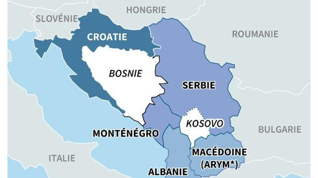 Les Balkans et l'Union européenne [Simon MALFATTO / AFP]