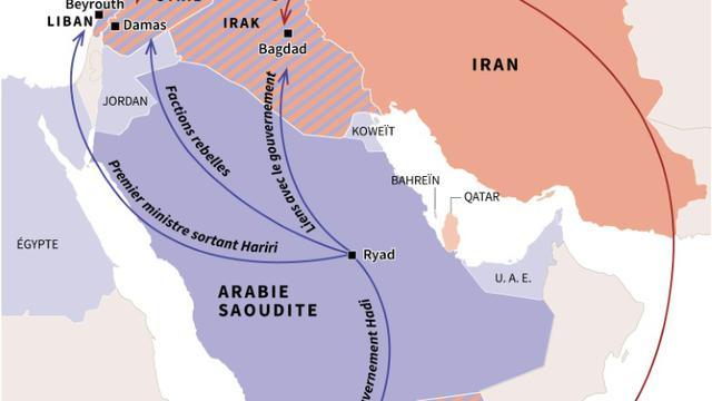 La rivalité irano-saoudienne au Moyen-Orient [Gillian HANDYSIDE / AFP]