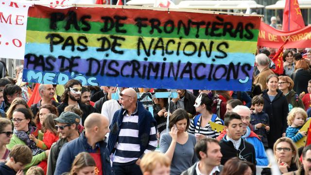Manifestation à Montpellier le 24 octobre 2015 pour la défense des langues régionales [PASCAL GUYOT / AFP]