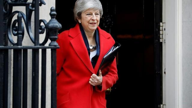La Première ministre britannique Theresa May, le 26 février 2019 à Londres [Tolga AKMEN / AFP]