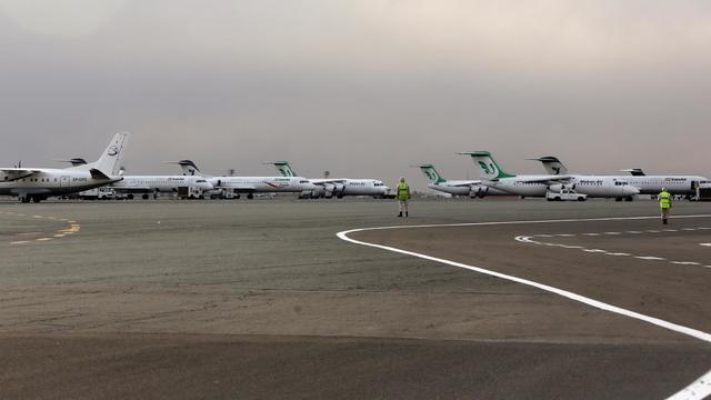 Des avions stationnent sur le tarmac de l'aéroport de Mehrabad, proche de Téhéran, le 15 janvier 2013 [Behrouz Mehri / AFP/Archives]