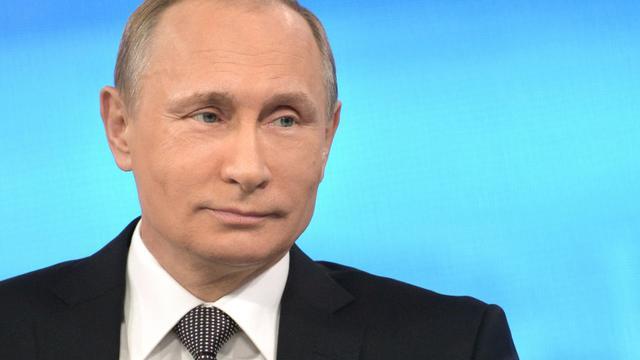Le président russe Vladimir Poutine le 16 avril 2015 à Moscou [ALEXEI DRUZHININ / RIA NOVOSTI/AFP/Archives]