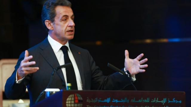 L'ex-président français Nicolas Sarkozy à Abou Dhabi le 13 janvier 2016 [ / AFP/Archives]