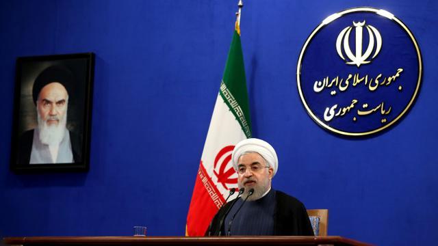 Le président iranien Hassan Rohani lors d'une conférence de presse à Téhéran le 29 août 2015 [ATTA KENARE / AFP/Archives]