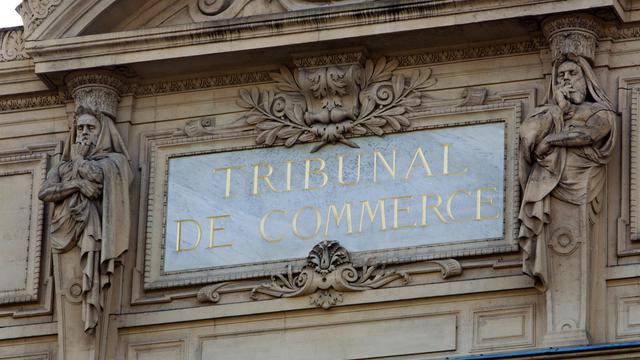La façade du tribunal de commerce de Paris [Loic Venance / AFP/Archives]
